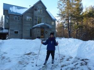 Amanda heading out for a ski