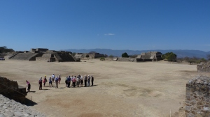 The main plaza at Monte Albán