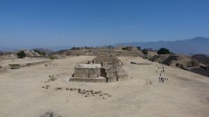 Looking north to the observatory of Monte Albán