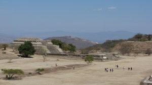 Looking north from Monte Albán to Atzompa on the mountain beyond