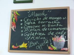 Comida menu