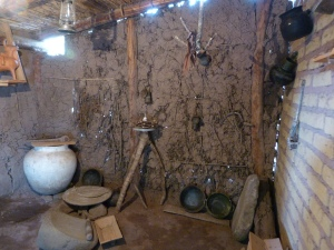 Reproduction of the kitchen of the home of Benito Juárez
