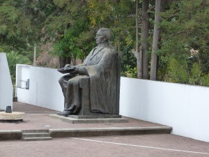 The statue of Benito Juárez in the town of Benito Juárez