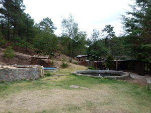 Trout tanks at Truchas Cuachirindoo Ixtlan