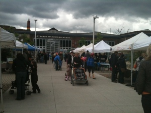 Saturday market at the Wychwood Barns