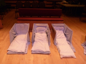 Beds for the audience