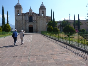 Outside the church of San Pedro y San Pablo