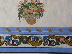 painting inside Santuario del Señor de las Peñas