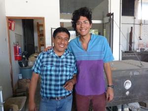 Padro and Salvador at Xa Quixe