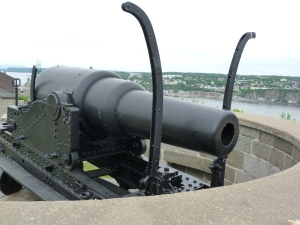 The canon at the Citadel, aimed at Upper Canada